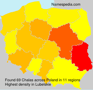Surname Chalas in Poland