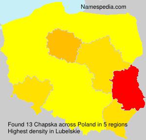 Surname Chapska in Poland