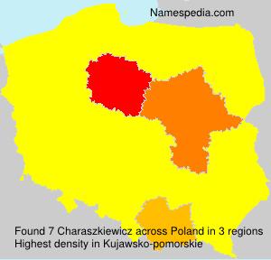 Surname Charaszkiewicz in Poland