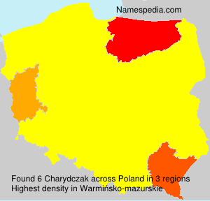 Surname Charydczak in Poland