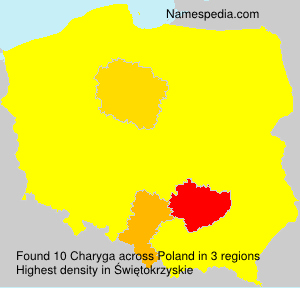 Surname Charyga in Poland
