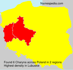 Surname Charyna in Poland