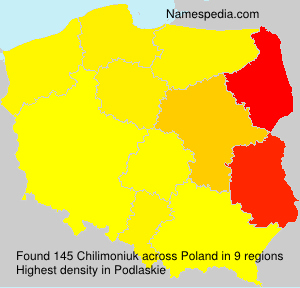 Surname Chilimoniuk in Poland
