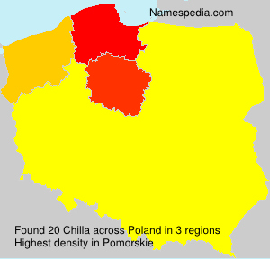 Surname Chilla in Poland