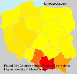 Surname Chlebek in Poland