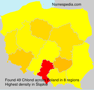 Surname Chlond in Poland