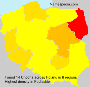 Surname Chocha in Poland
