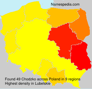 Surname Chodzko in Poland