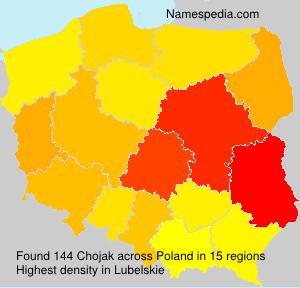 Surname Chojak in Poland