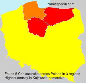 Surname Cholascinska in Poland