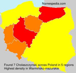 Surname Cholaszczynski in Poland