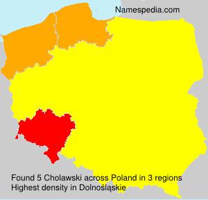 Surname Cholawski in Poland