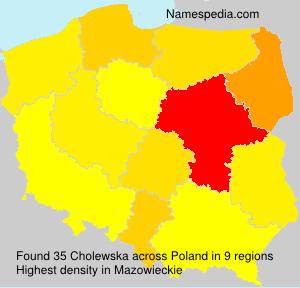 Surname Cholewska in Poland
