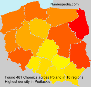 Surname Chomicz in Poland