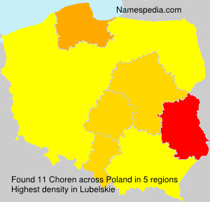 Surname Choren in Poland