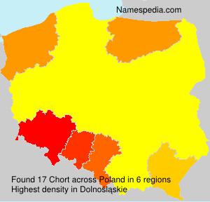 Surname Chort in Poland