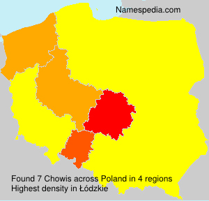 Surname Chowis in Poland