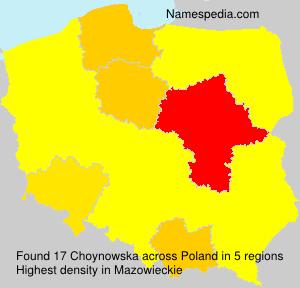 Familiennamen Choynowska - Poland