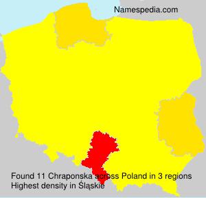 Surname Chraponska in Poland