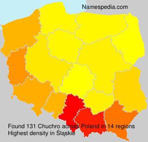 Surname Chuchro in Poland