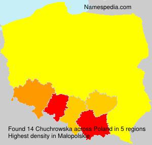 Surname Chuchrowska in Poland
