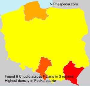 Surname Chudio in Poland