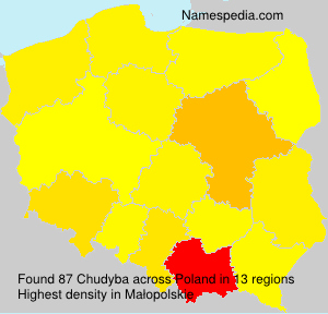 Surname Chudyba in Poland