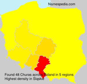 Surname Churas in Poland