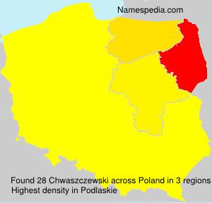 Familiennamen Chwaszczewski - Poland