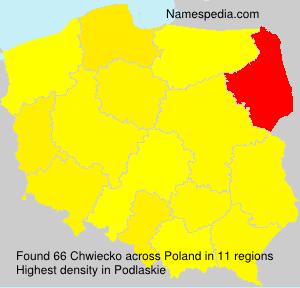 Surname Chwiecko in Poland