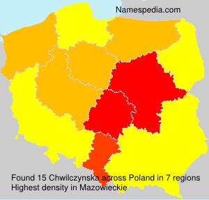 Surname Chwilczynska in Poland