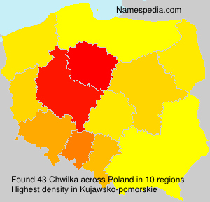 Surname Chwilka in Poland