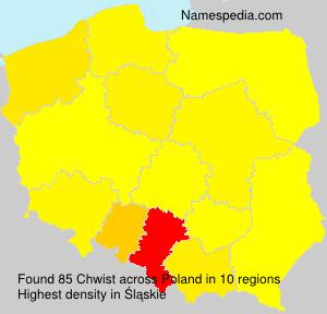 Surname Chwist in Poland