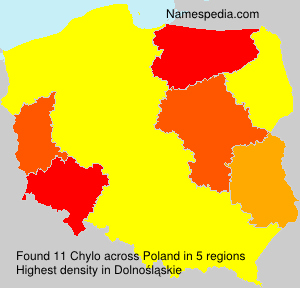 Surname Chylo in Poland
