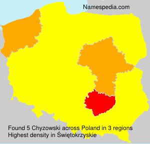 Surname Chyzowski in Poland