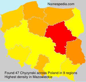 Surname Chyzynski in Poland