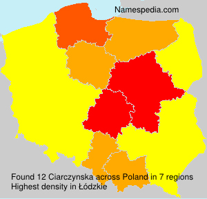 Familiennamen Ciarczynska - Poland