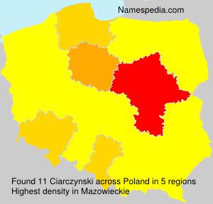 Surname Ciarczynski in Poland