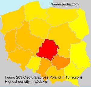 Familiennamen Cieciura - Poland