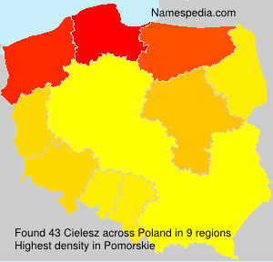 Surname Cielesz in Poland