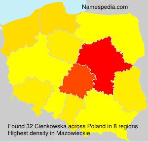 Surname Cienkowska in Poland