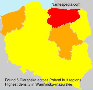 Surname Cierepska in Poland