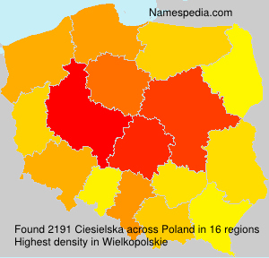 Familiennamen Ciesielska - Poland