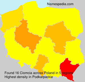 Surname Ciomcia in Poland