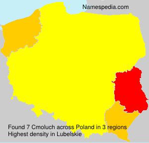 Familiennamen Cmoluch - Poland