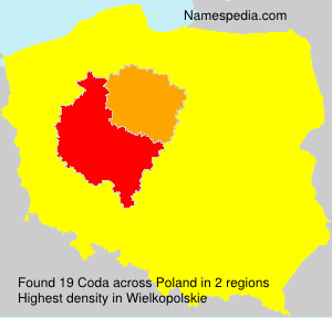 Surname Coda in Poland
