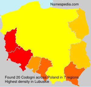 Surname Codogni in Poland