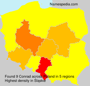 Surname Conrad in Poland
