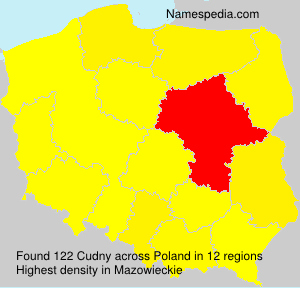 Surname Cudny in Poland