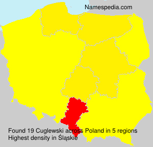 Surname Cuglewski in Poland